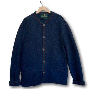 Giesswein Men's Pure Wool Blue Coat